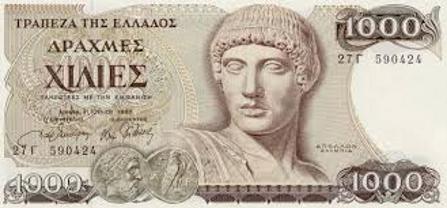 1,000 Greek Drachma Note