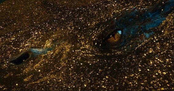 Image of Gold Hoard and Dragon's Eye from 'Desolation of Smaug'