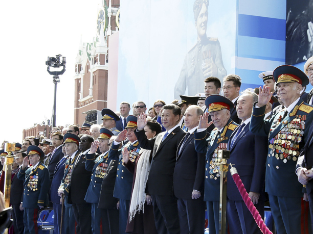 Xi and Putin during the military parade in Moscow, May 9th, 2015