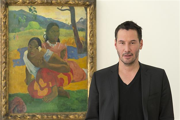 Keanu Reeves and �When Will You Marry� Painting