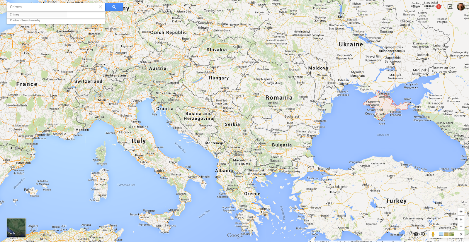 geo political importance of south eastern europe google maps