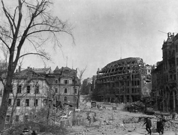 The city of Plauen after bombings in WWII
