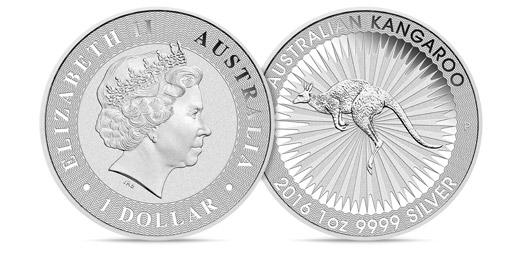 Silver Australian Kangaroo 25 coins – 25 Oz