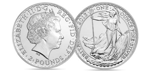 Silver Britannia 1 Oz Coins – 25 Per Tube – 25 Oz
