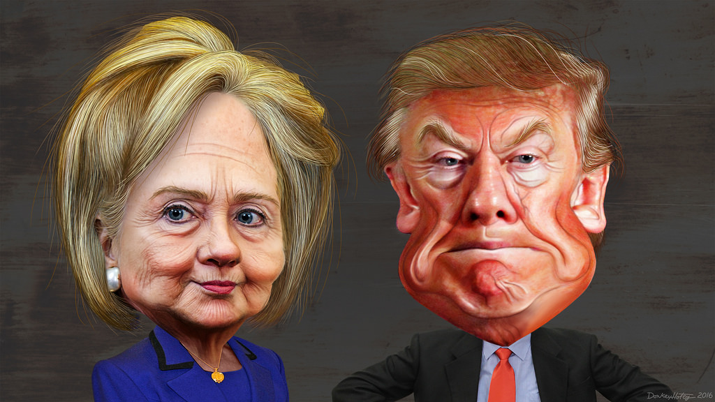 hilary-and-trump Ignore past elections, this one's too uncertain Ignore past elections, this one's too uncertain hilary and trump