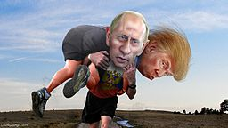 china, russia alliance deepens against american overstretch China, Russia Alliance Deepens Against American Overstretch Vladimir Putin carrying his buddy Donald Trump 1