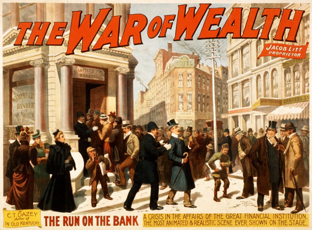 Invest In Gold To Defend Against Bail-ins Invest In Gold To Defend Against Bail-ins War of wealth bank run poster 1024x756