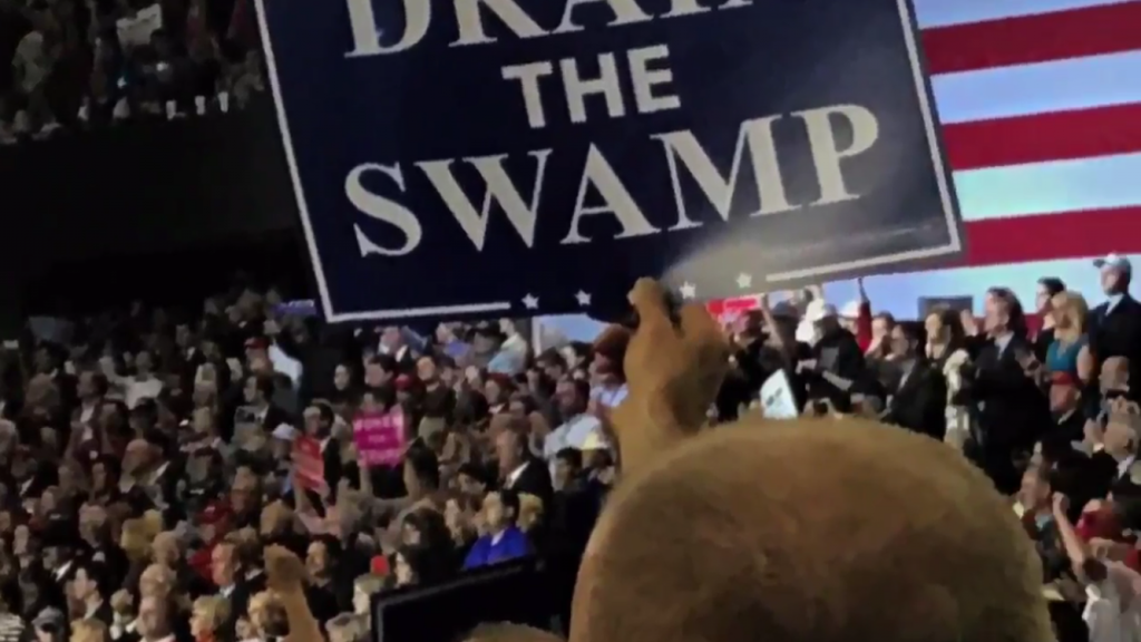 "Is New Fed Chief A ""Swamp Critter Extraordinaire""? Is New Fed Chief A ""Swamp Critter Extraordinaire""? Trump rally Louisville March 2017 IMG 8475 1024x576"