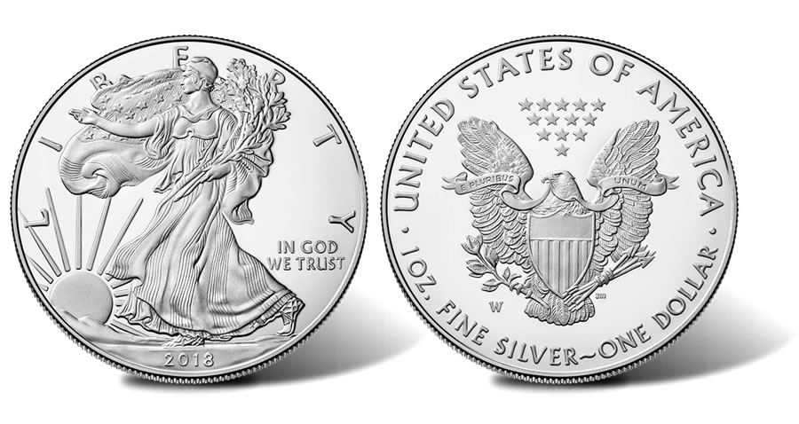 Silver Bullion: Once and Future Money Silver Bullion: Once and Future Money Silver Bullion Eagle Images of Obverse and Reverse 2018