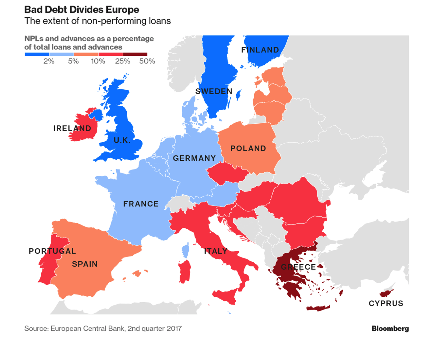 Three Stooges Map Of Europe.Bank Bail In Risk In European Countries Seen In 5 Key Charts