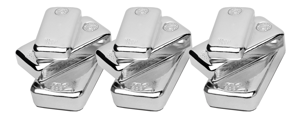 Silver Bars Stacked