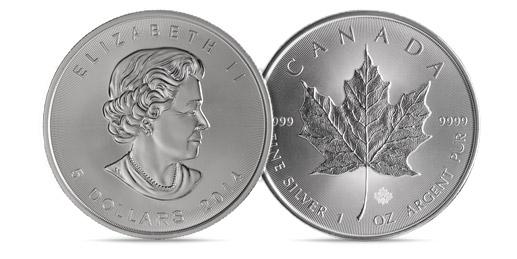 Silver Maple Leaf Coins (1 oz) – 25 Per Tube