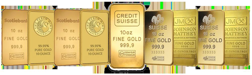 10 Ounce Gold Bars