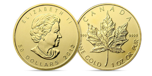 Gold Maple Leaf Canadian 1 Ounce