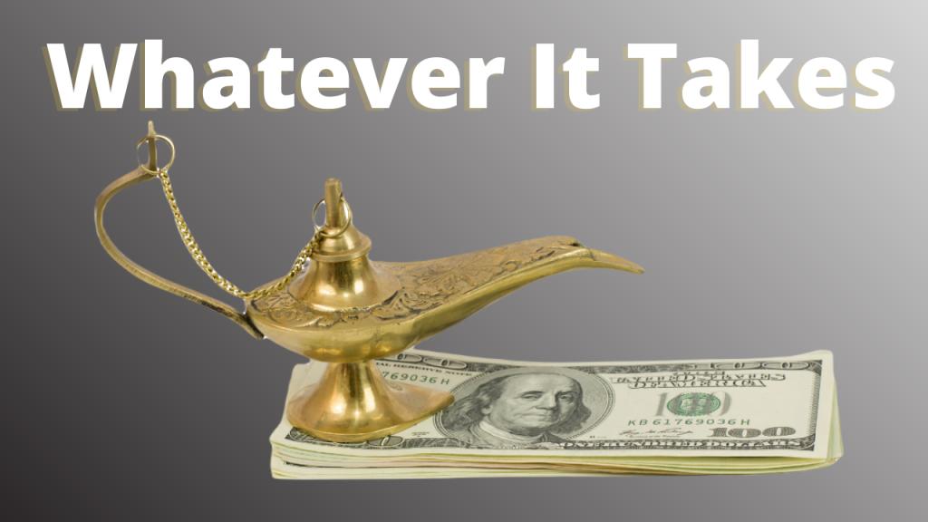 Genies Lamp and Dollars