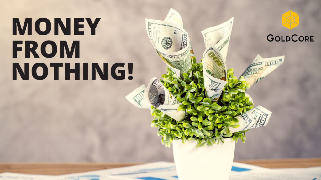 Money growing on a plant.