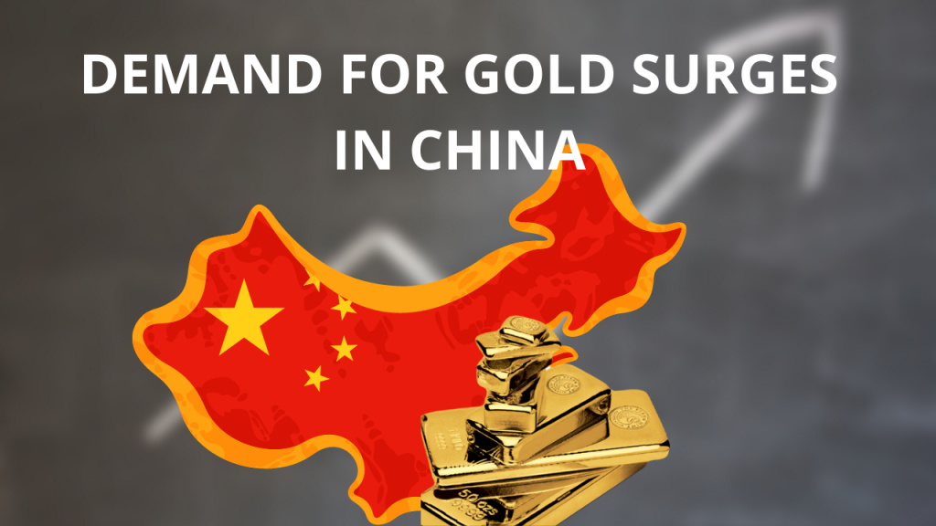 Map of china and gold and growth graph