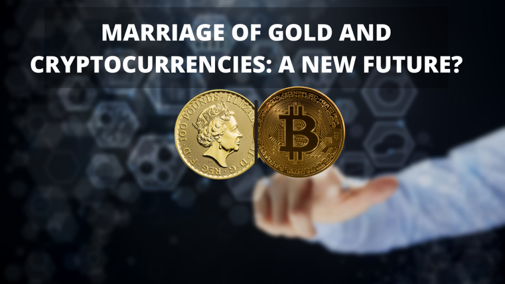 Combination of gold and cryptocurrencies