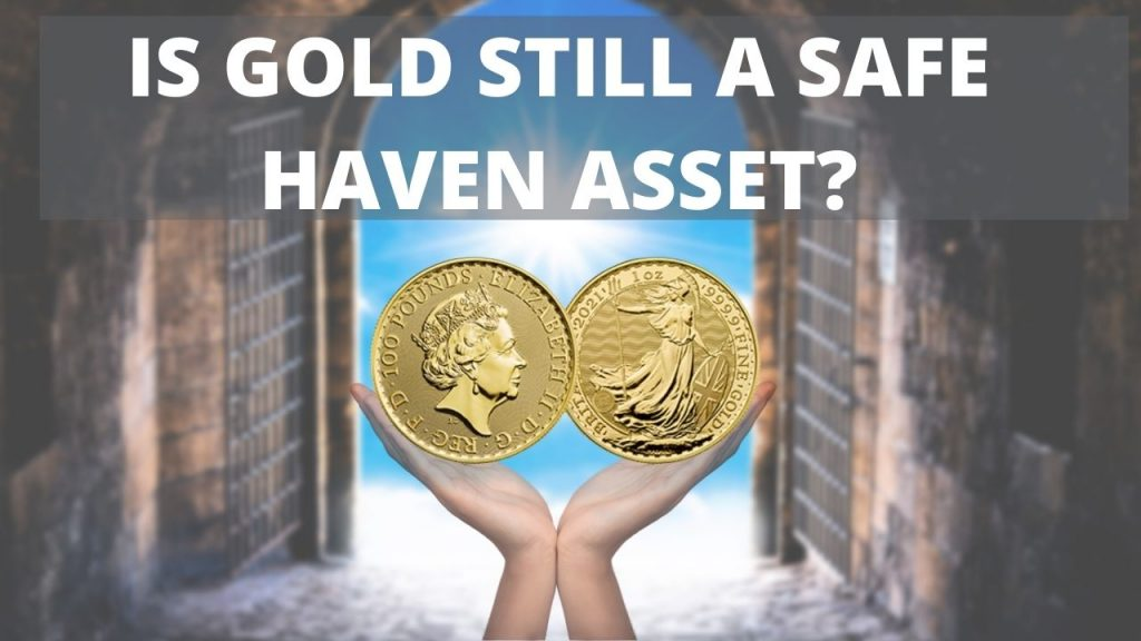 Is Gold Still A Safe Haven Asset?- Haven gates with hands holding gold coins